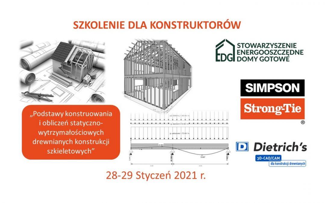 Szkolenie dla konstruktorów                                                     28-29 Styczeń 2021r.