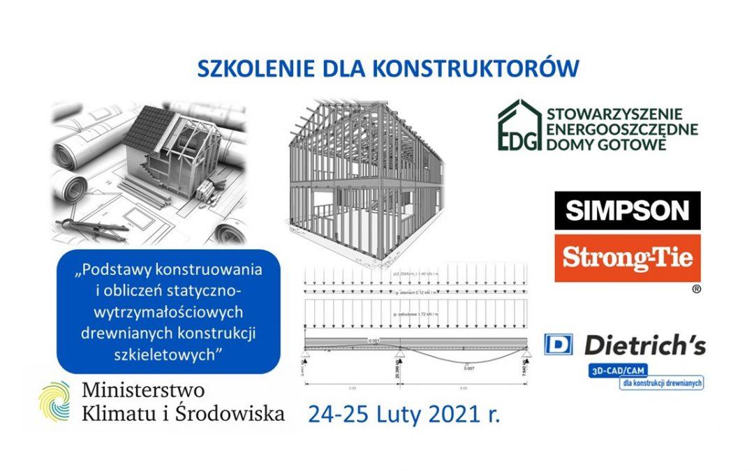 Szkolenie dla konstruktorów                                                     24-25 Luty 2021r.