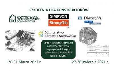 Zaproszenie na szkolenia dla konstruktorów                               30-31 Marca 2021r., 27-28 Kwietnia 2021 r.